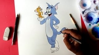 getlinkyoutube.com-how to draw Tom and Jerry easy