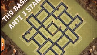 getlinkyoutube.com-Clash of clans   Towhall 9 (TH9) best war base with 2 air sweeper [ anti TH10 ] + Replay