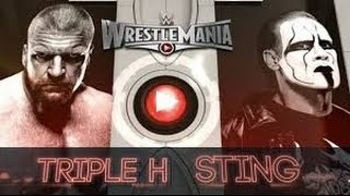Triple H vs Sting l WrestleMania 31 l Combates WWE