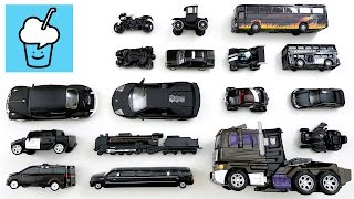 getlinkyoutube.com-Learning Black Color for kids with street vehicles tomica トミカ siku VooV ブーブ transformer