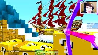 getlinkyoutube.com-Minecraft LUCKY BLOCK SKY SHIP BATTLE! #1 - w/ THE PACK!