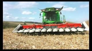 getlinkyoutube.com-Corn Harvest/Kukorica Betakarítás 2013! John Deere S690i+Claas Lexion 600! PART_1