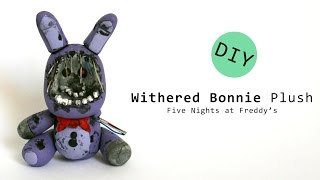 getlinkyoutube.com-Five Nights at Freddy's 2 Withered Bonnie Plush Polymer Clay Tutorial
