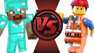 getlinkyoutube.com-MINECRAFT STEVE vs LEGO EMMET! Cartoon Fight Club Episode 21