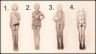 getlinkyoutube.com-❤ Drawing Tutorial - How to draw 4 spring outfits ❤