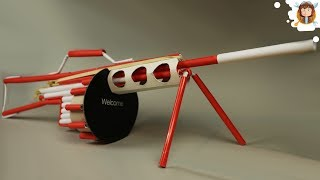 getlinkyoutube.com-How to Make a Paper Gun that Shoots - (Machine Gun)