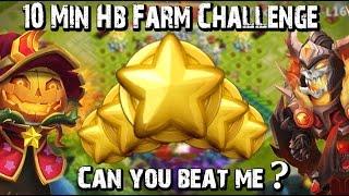 getlinkyoutube.com-Castle Clash 10 min HB Farm Challenge!!