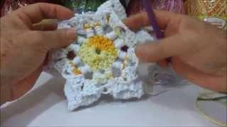 Aprenda a fazer: Flor Copo de Leite em crochê BIG artes.com.br