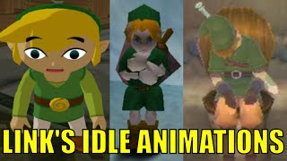 getlinkyoutube.com-All Link's Idle Animations In The Legend Of Zelda Series (Let's Do Nothing in Zelda Games)