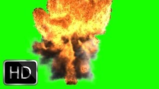 huge explosion in green screen free stock footage