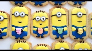 getlinkyoutube.com-How To Decorate Minion Cookies for Valentine's Day!