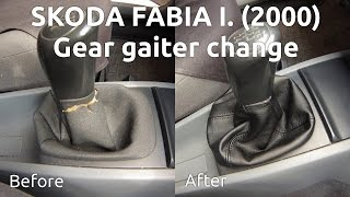 getlinkyoutube.com-DIY: How to change gear gaiter / knob in Skoda Fabia I (2000) - Váltószoknya - váltógomb csere