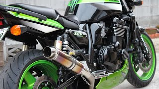 getlinkyoutube.com-Kawasaki ZRX1200R Realize サイレンサーに交換♪