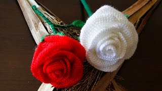 getlinkyoutube.com-Como hacer una preciosa rosa a crochet.