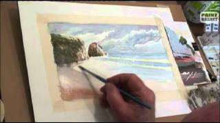 getlinkyoutube.com-How to paint a seascape in watercolor - Painting Lessons tutorials classes