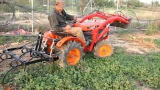 getlinkyoutube.com-Kubota B6000D trabajando con cultivadores