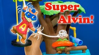 getlinkyoutube.com-ALVIN AND THE CHIPMUNKS Nickelodeon Alvin's Real Life Spider Powers Spiderman Alvin Video Toy Parody