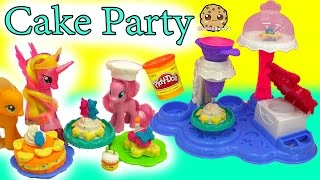 getlinkyoutube.com-My Little Pony Pinkie Pie Makes Treats for MLP with Cake Party Playdoh Maker Playset