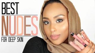 BEST NUDE LIPSTICKS for DARK SKIN | Lip Swatches | Aysha Abdul