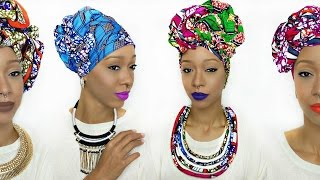 getlinkyoutube.com-Head Wrap Tutorial | 5 Different Ankara Styles