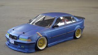 getlinkyoutube.com-RC BMW e36 Re Paint and DRIFT 2015