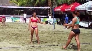 getlinkyoutube.com-Filipina Girls Beach Volleyball ~ 2015 Paraw Regatta at Villa Beach in Iloilo City Philippines