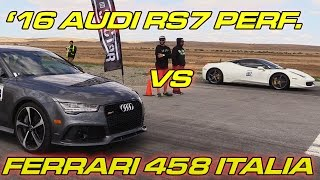 getlinkyoutube.com-Audi RS7 Performance vs Ferrari 458 Italia