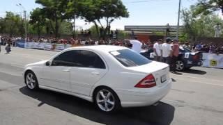 getlinkyoutube.com-Mercedes Benz C63 AMG vs Opel Vectra B