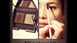getlinkyoutube.com-How i Fill My Eyebrow- using ELF eyebrow kit