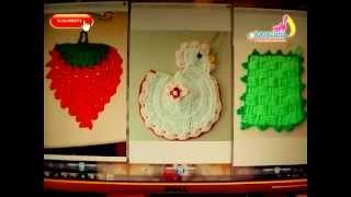 getlinkyoutube.com-DIY 3 adornos para la cocina tejidos a crochet