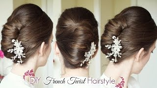 getlinkyoutube.com-DIY French Twist Updo | Holiday Updo Hairstyles | Braidsandstyles12