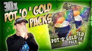 30 POT 'O' GOLD PACK OPENING!! 6 MILLION COINS WORTH!! MADDEN MOBILE 17