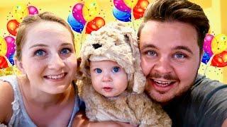 getlinkyoutube.com-FIRST BIRTHDAY PUPPY!