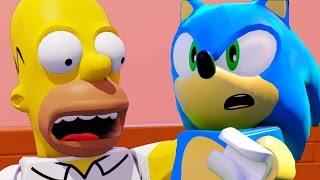 getlinkyoutube.com-LEGO Dimensions Sonic The Hedgehog & The Simpsons All Cut Scenes & Ending 4k UHD 2160p