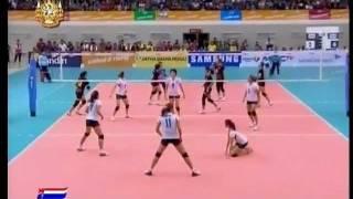 getlinkyoutube.com-Thailand vs Indonesia - set 2 - Women Volleyball - 26th SEA GAMES