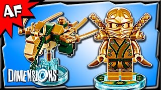 getlinkyoutube.com-Lego Dimensions Ninjago LLOYD Golden Ninja & Dragon Fun Pack 3-in-1 Build Review 71239