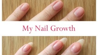 getlinkyoutube.com-Nail Growth And Cutting My Stiletto Nails (time lapse)