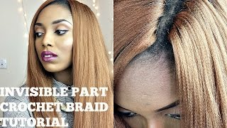 getlinkyoutube.com-Crochet Braids With Kanekalon Hair ( Invisisible / Knotless Part )