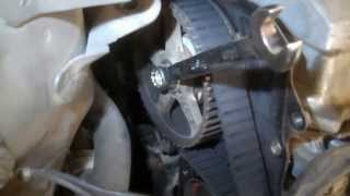 getlinkyoutube.com-Timing belt replacement Toyota Camry 2000 2.2L 4 cylinder Water pump PART 1 remove replace