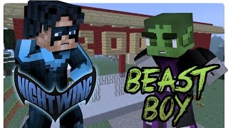 getlinkyoutube.com-Teen Titans: Meet Beast Boy! (Minecraft Superhero Role Play)