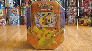 getlinkyoutube.com-Pokemon Pikachu EX Tin Opening