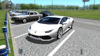 getlinkyoutube.com-City Car Driving 1.4.1 Lamborghini Huracan Gameplay With Logitech G27!