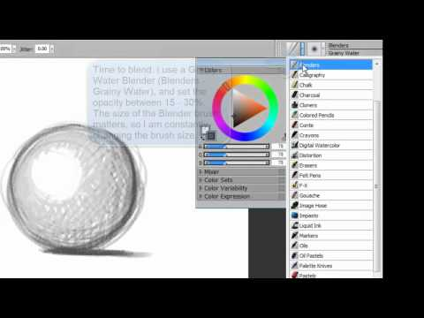 How to Draw &amp; Shade Sphere - Corel Painter &amp; Wacom tablet  (A Basic Tutorial in Digital Painting)