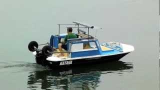 getlinkyoutube.com-Hope Boat  KATANA-400LW ( MERCURY 8ps 2 Stroke )