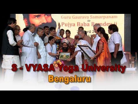 S - Vyasa Yoga University | Bangaluru | 24 April 2017 (Part 1)