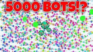 getlinkyoutube.com-Hacked Agar.io!?! 5000 BOTS!!! Agario will never change!!! #Stop Bots?