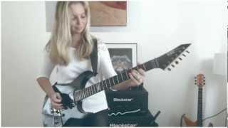 getlinkyoutube.com-One - Metallica by Cissie on Guitar - with Hammett solo MULTICAM HD