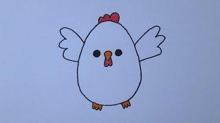 getlinkyoutube.com-Como desenhar uma galinha