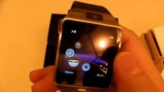 getlinkyoutube.com-Product Review: DZ09 Bluetooth Smart Watch Phone