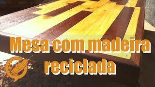 getlinkyoutube.com-Como fazer uma mesa com madeira reciclada de pallet